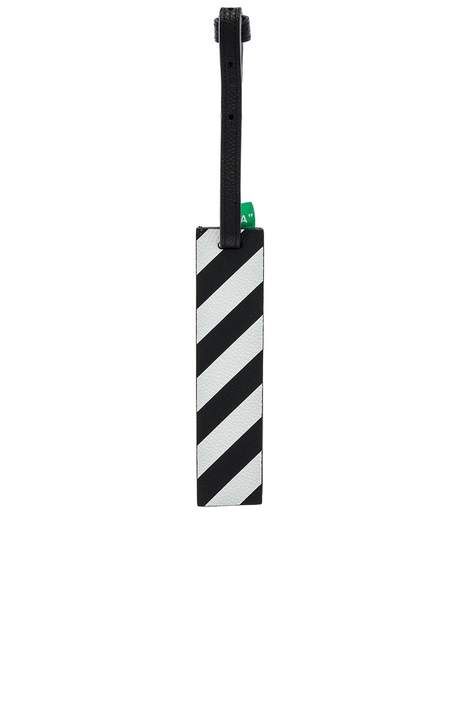 Image 1 of OFF-WHITE Diagonal Travel Tag in Black & White