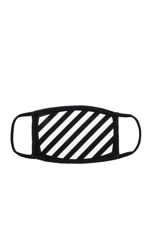 Image 1 of OFF-WHITE Diagonal Mask in White & Black