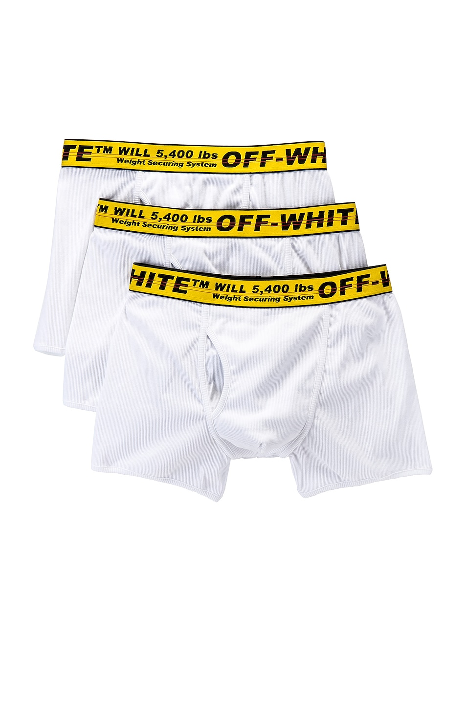 Image 1 of OFF-WHITE Tripack Boxer Shorts in White & Yellow