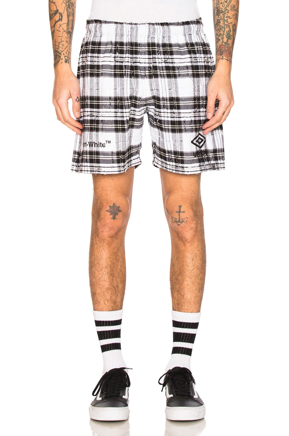 Image 1 of OFF-WHITE x Umbro Shorts in White Check