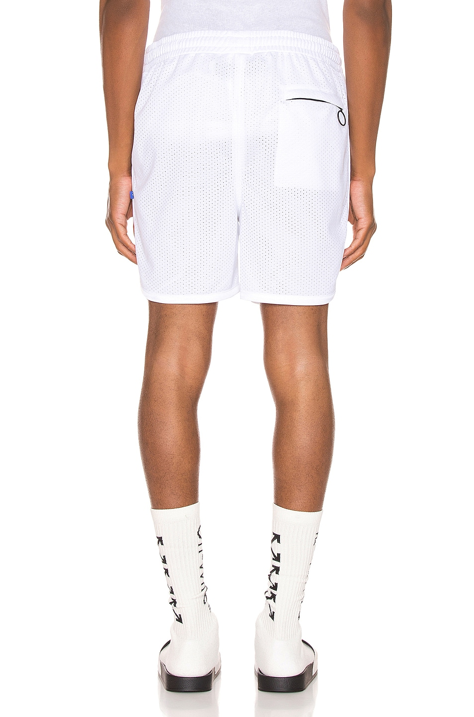 Image 3 of OFF-WHITE Thermo Mesh Shorts in White Multi