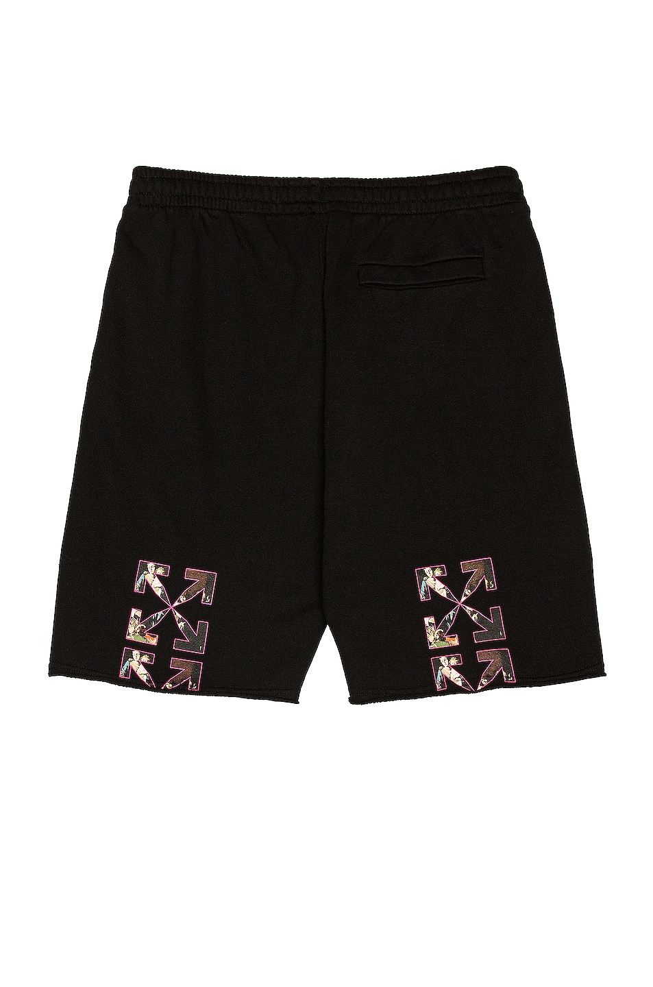 Image 1 of OFF-WHITE Sprayed Caravaggio Sweatshort in Black & White