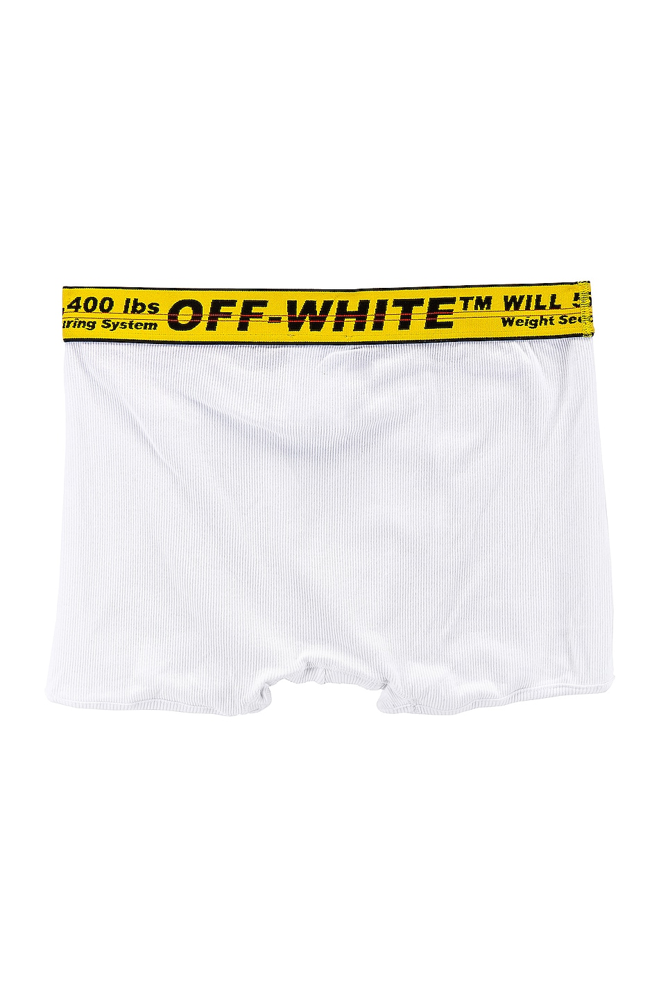 Image 2 of OFF-WHITE Single Pack Boxer in White & Yellow