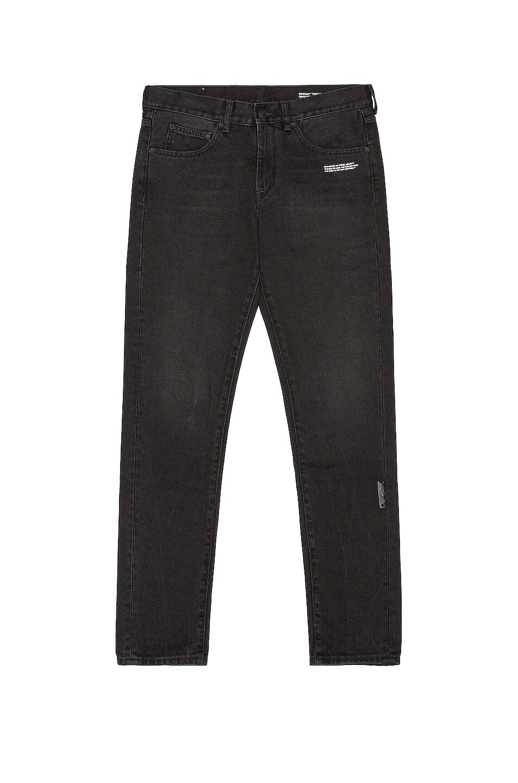 Image 1 of OFF-WHITE Slim Jeans in Black & White