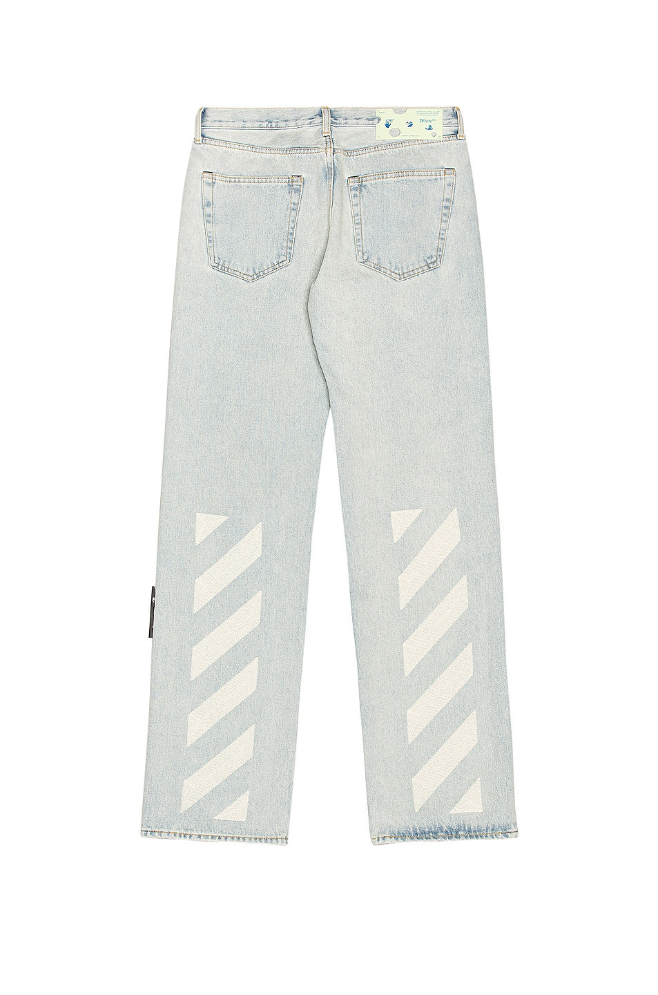 Image 1 of OFF-WHITE Relaxed Fit Jeans in Blue