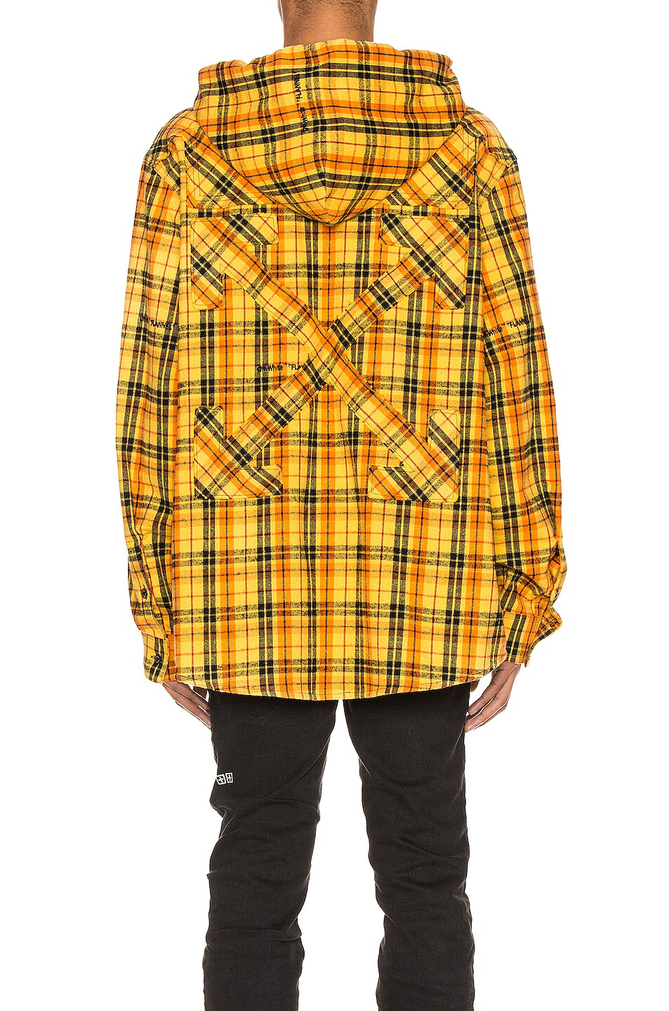 Image 5 of OFF-WHITE Hoodie Check Shirt in Yellow