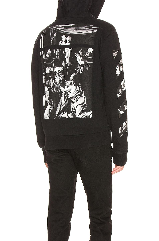 Image 1 of OFF-WHITE Caravaggio Zip Hoodie in Black