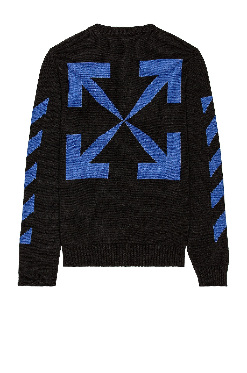 Image 1 of OFF-WHITE Diag Knit Crewneck in Black & Blue