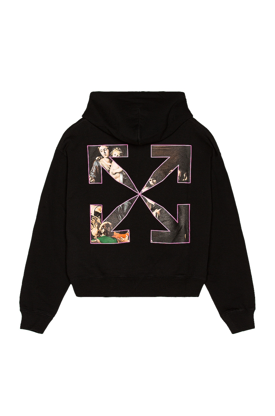 Image 1 of OFF-WHITE Sprayed Caravaggio Over Hoodie in Black