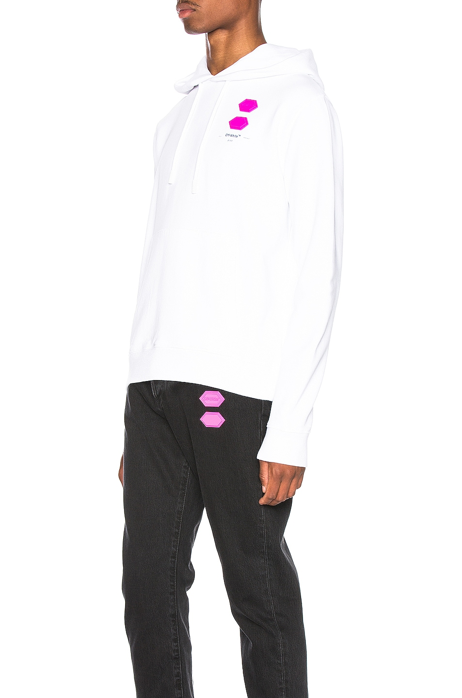 Image 4 of OFF-WHITE EXCLUSIVE Hooded Sweatshirt in White