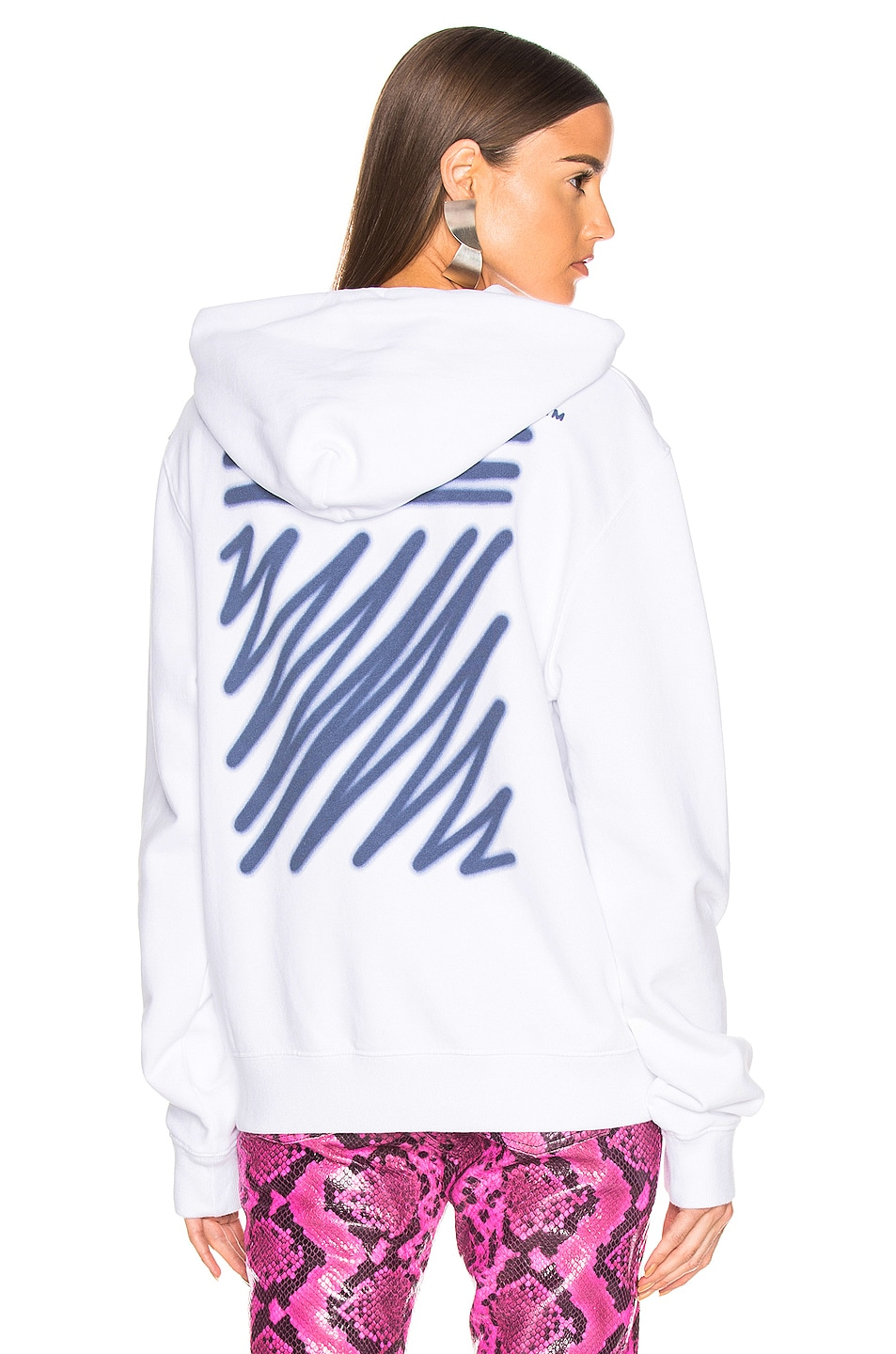 Image 1 of OFF-WHITE FWRD EXCLUSIVE Hooded Sweatshirt in White