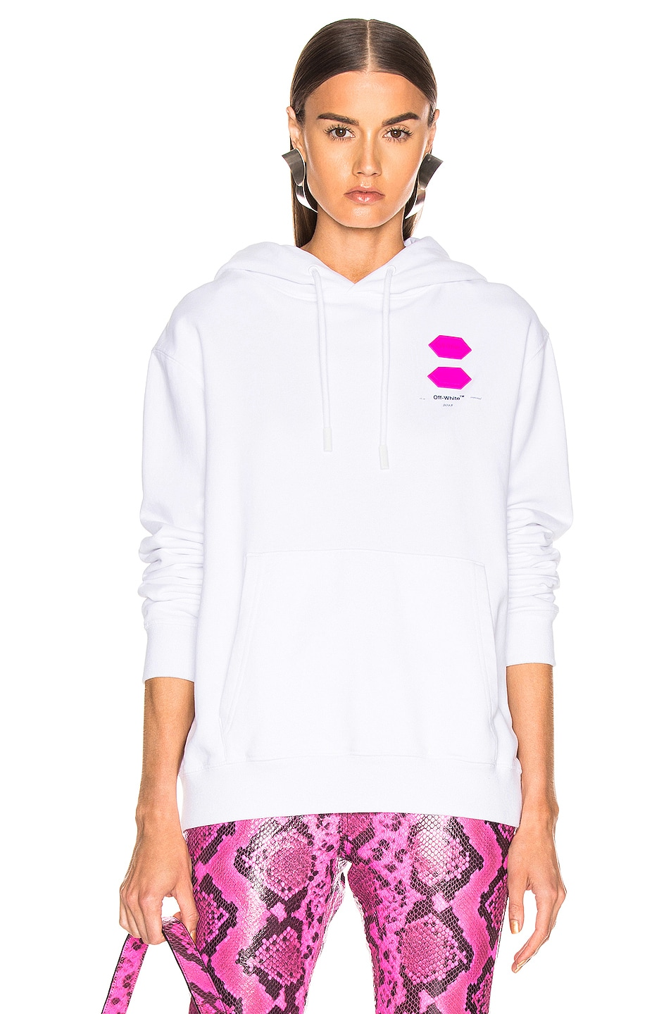 Image 2 of OFF-WHITE FWRD EXCLUSIVE Hooded Sweatshirt in White