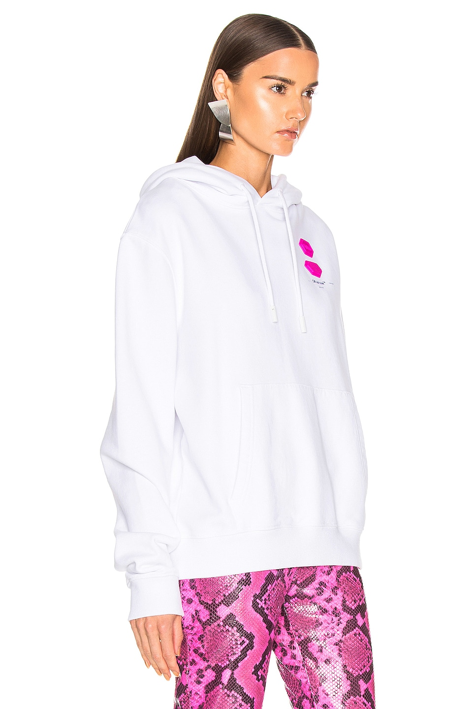 Image 3 of OFF-WHITE FWRD EXCLUSIVE Hooded Sweatshirt in White