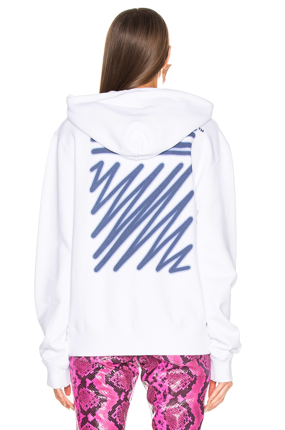 Image 5 of OFF-WHITE FWRD EXCLUSIVE Hooded Sweatshirt in White