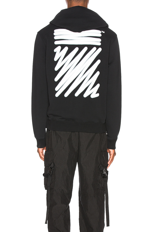 Image 4 of OFF-WHITE EXCLUSIVE Hooded Sweatshirt in Black
