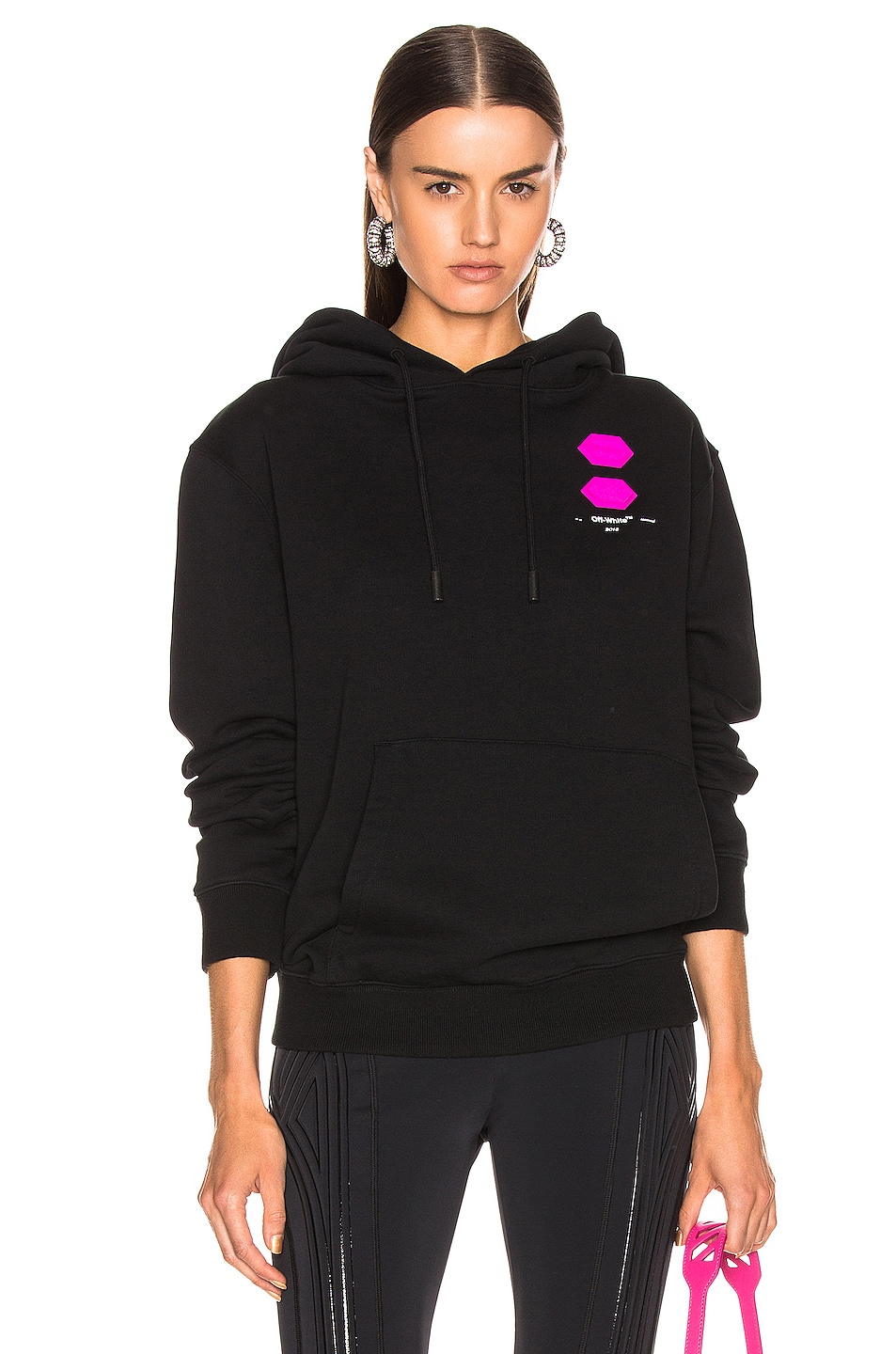 Image 1 of OFF-WHITE EXCLUSIVE Hooded Sweatshirt in Black