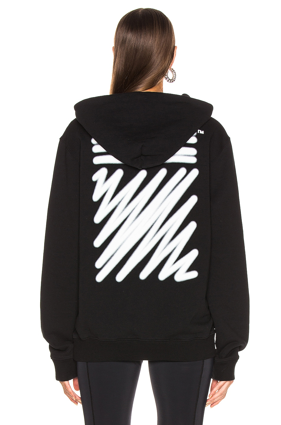 Image 4 of OFF-WHITE EXCLUSIVE Hooded Sweatshirt in Black