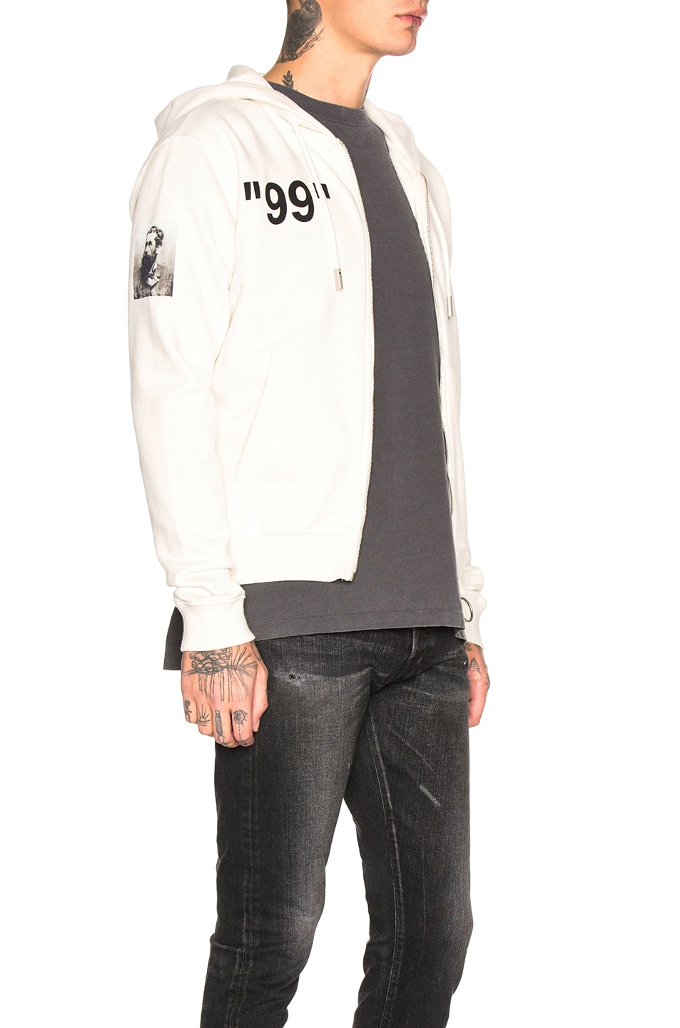 OFF-WHITE Boat Zip Hoodie Off White Multi chic