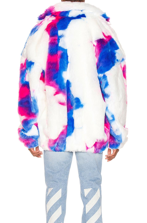 Image 4 of OFF-WHITE Faux Fur Zip Anorak in Multi