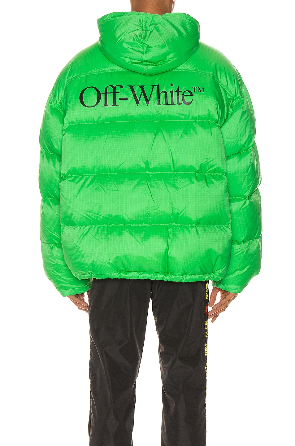Image 5 of OFF-WHITE Zipped Puffer in Green & Black