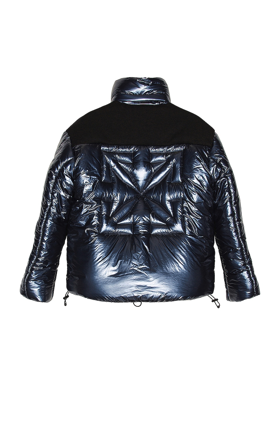 Image 1 of OFF-WHITE Down Puffer Jacket in Navy Blue
