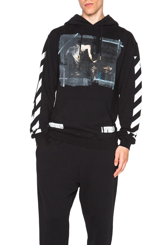 b870ea1f1a Image 1 of OFF-WHITE Caravaggio Hooded Sweatshirt in Black