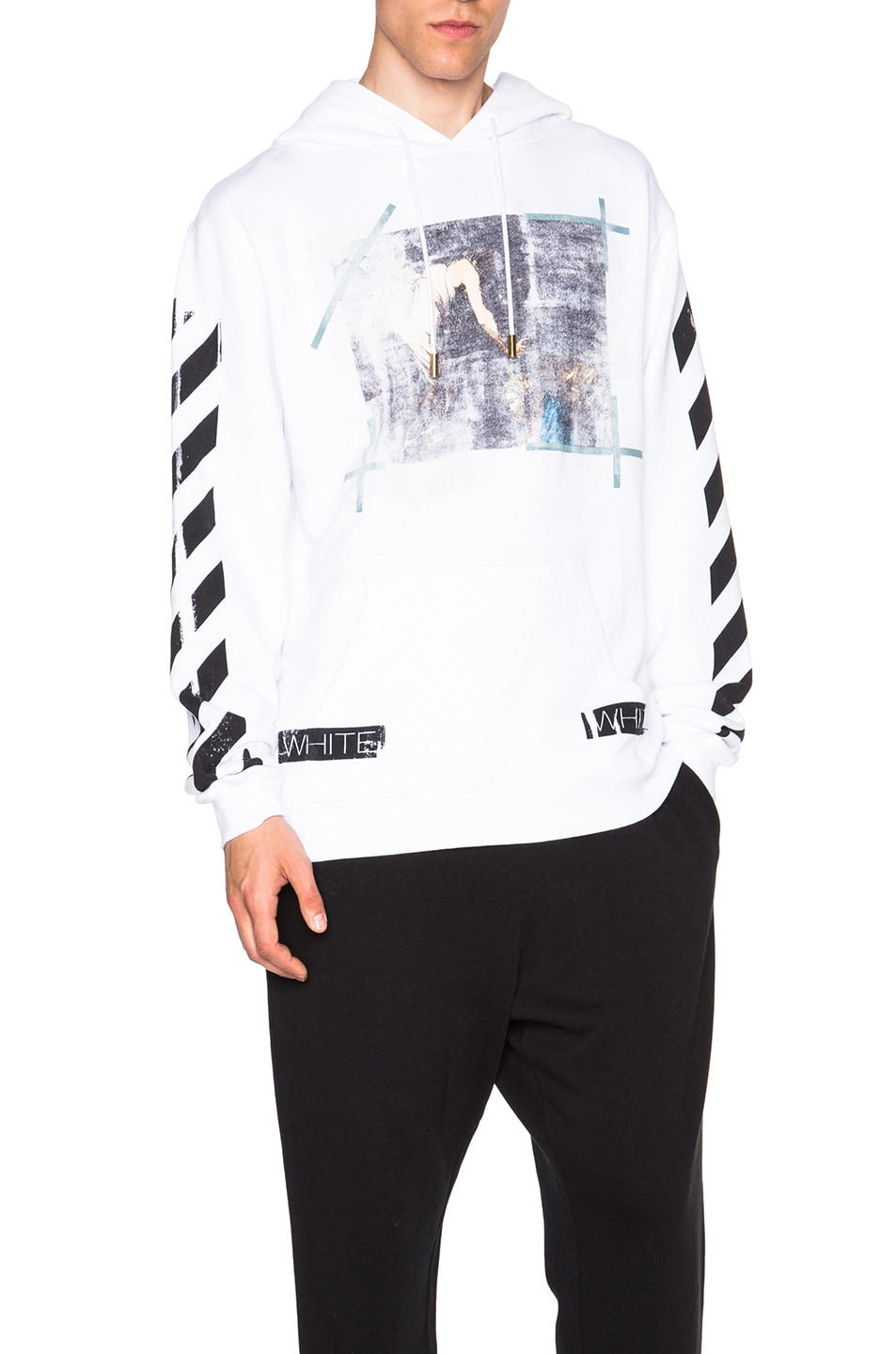 3c5c99789d Image 1 of OFF-WHITE Caravaggio Hooded Sweatshirt in White