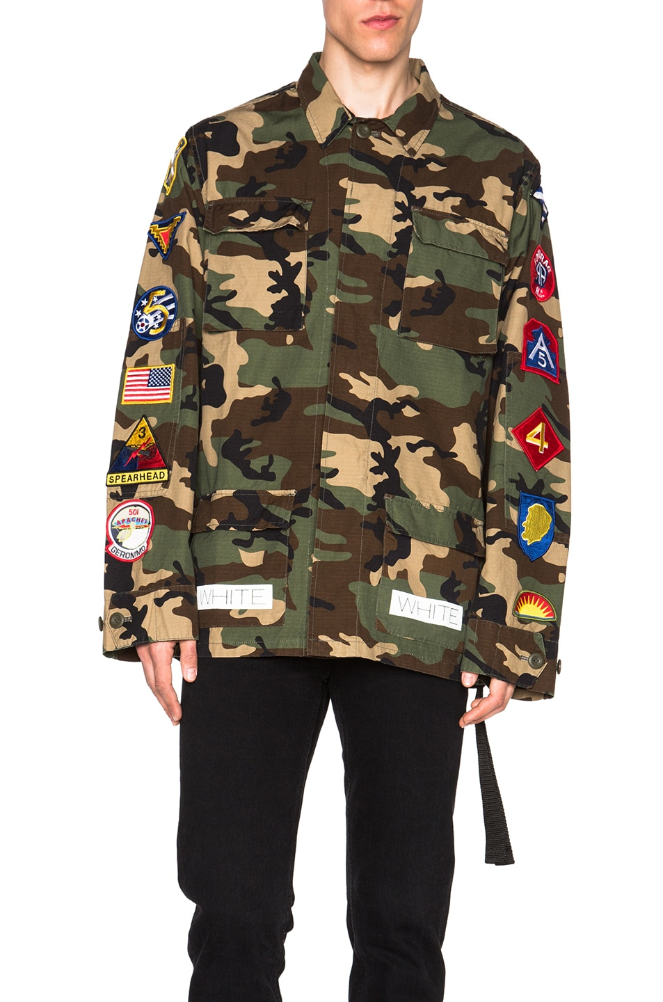 Image 1 of OFF-WHITE Sahariana Jacket with Patches in Camouflage