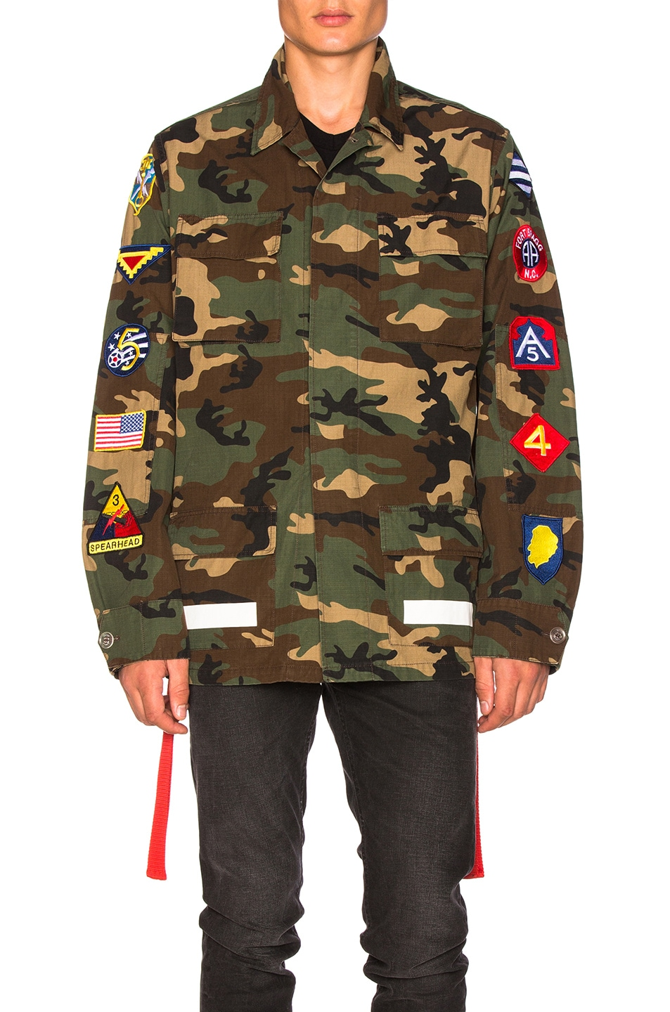 3421cb15bfda Image 2 of OFF-WHITE Archive Field Jacket in Camo   All Over White