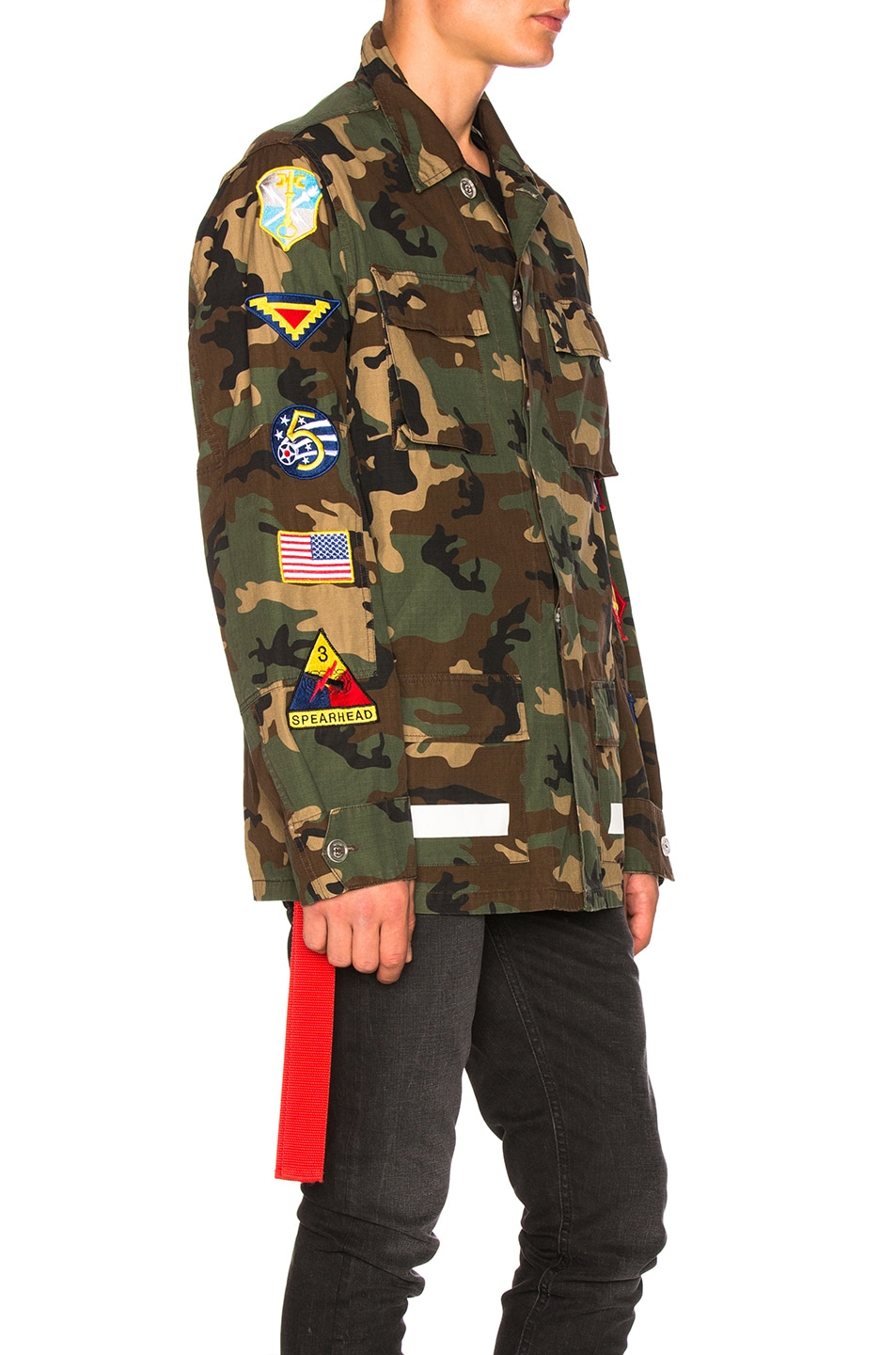 f0ae31982ba6 Image 3 of OFF-WHITE Archive Field Jacket in Camo   All Over White