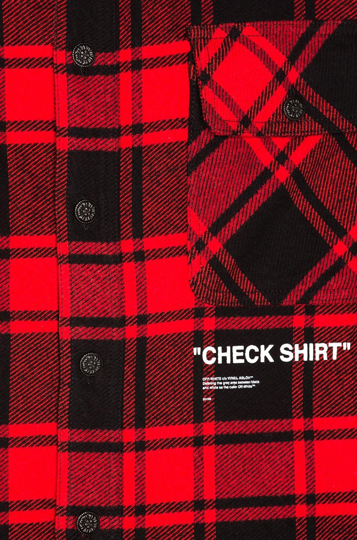 5f0b274c25fa Image 6 of OFF-WHITE Quote Flannel in Red   White