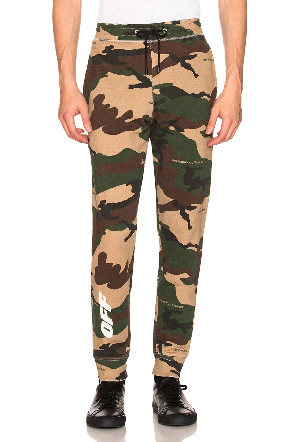Image 1 of OFF-WHITE Off Sweatpants in Camo