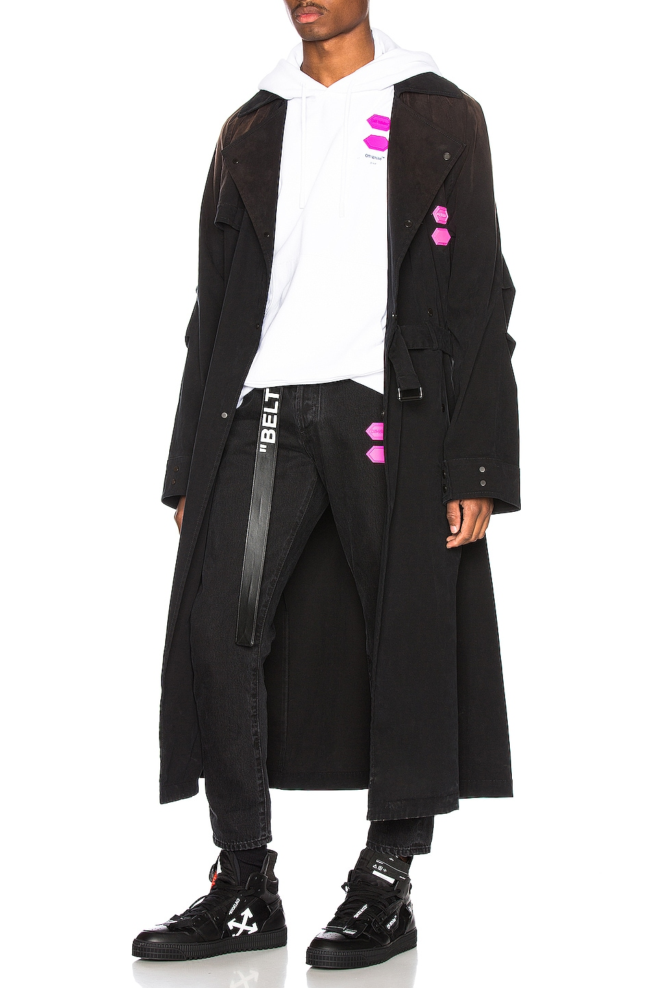 Image 6 of OFF-WHITE EXCLUSIVE Slim Low Crotch Pants in Black