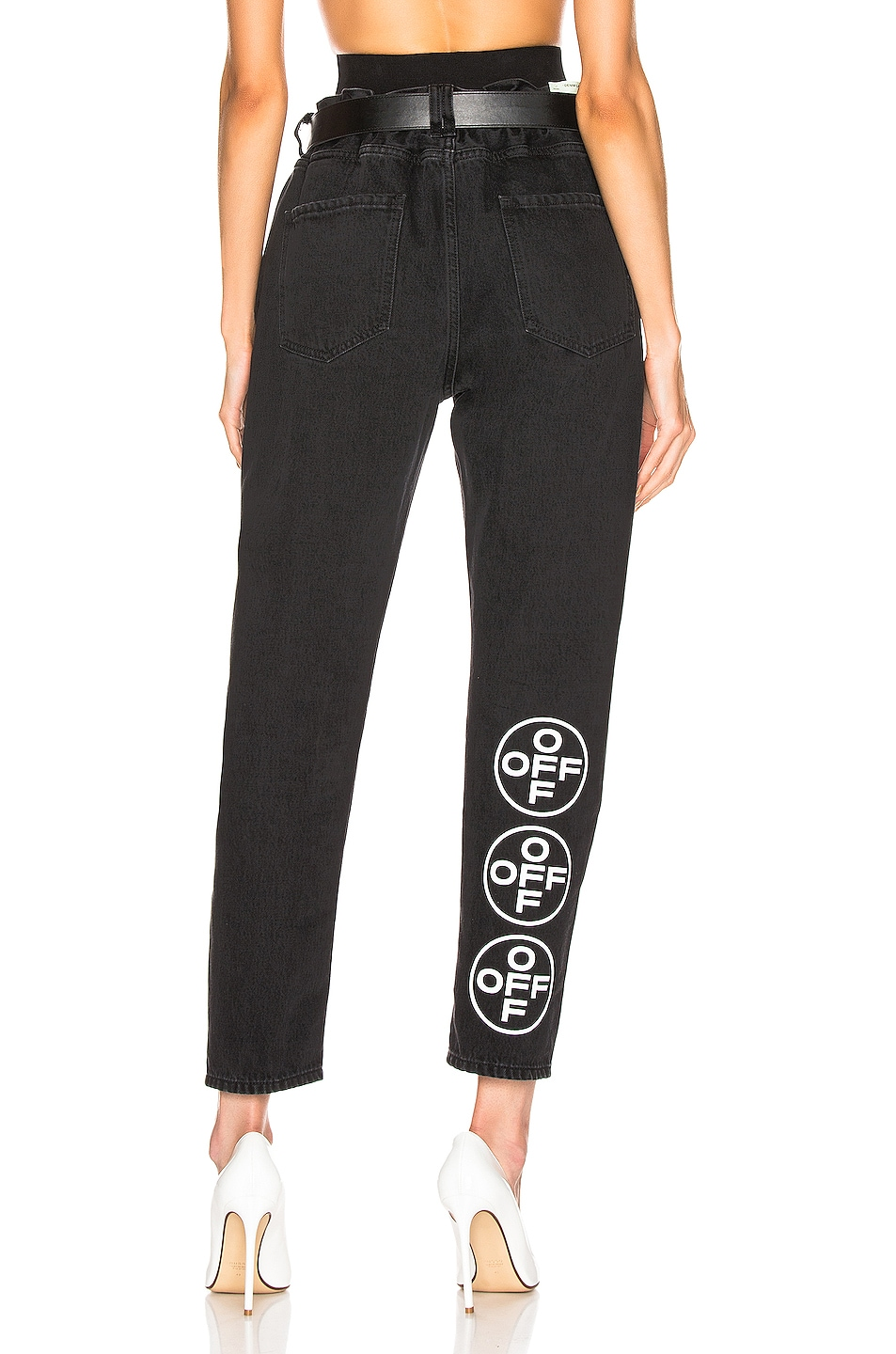 Image 1 of OFF-WHITE EXCLUSIVE Slim Low Crotch Pants in Black