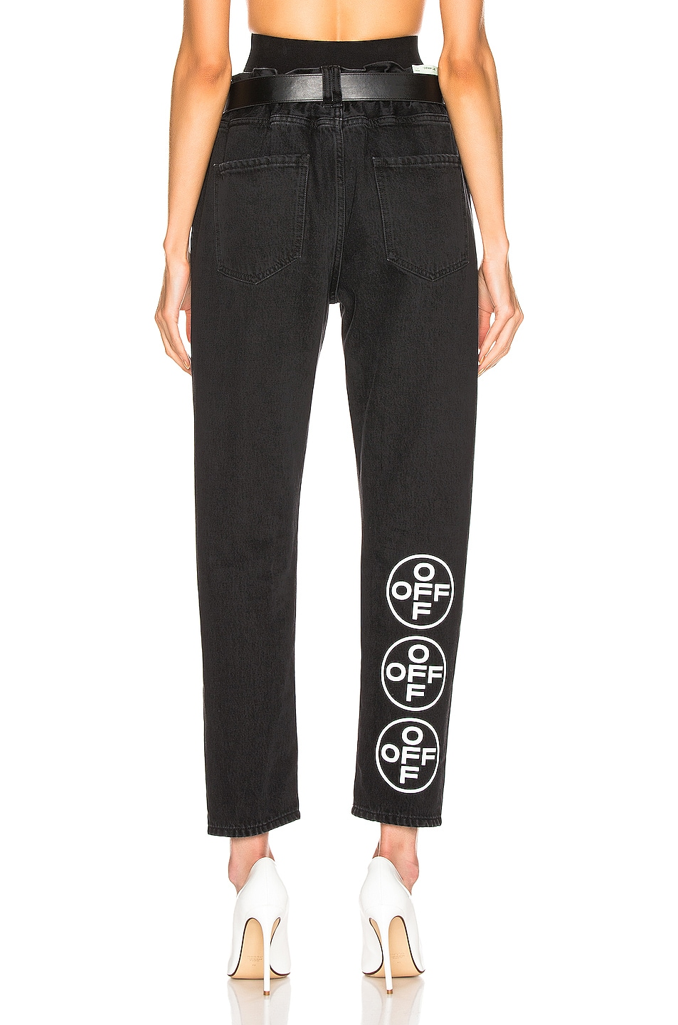 Image 5 of OFF-WHITE EXCLUSIVE Slim Low Crotch Pants in Black
