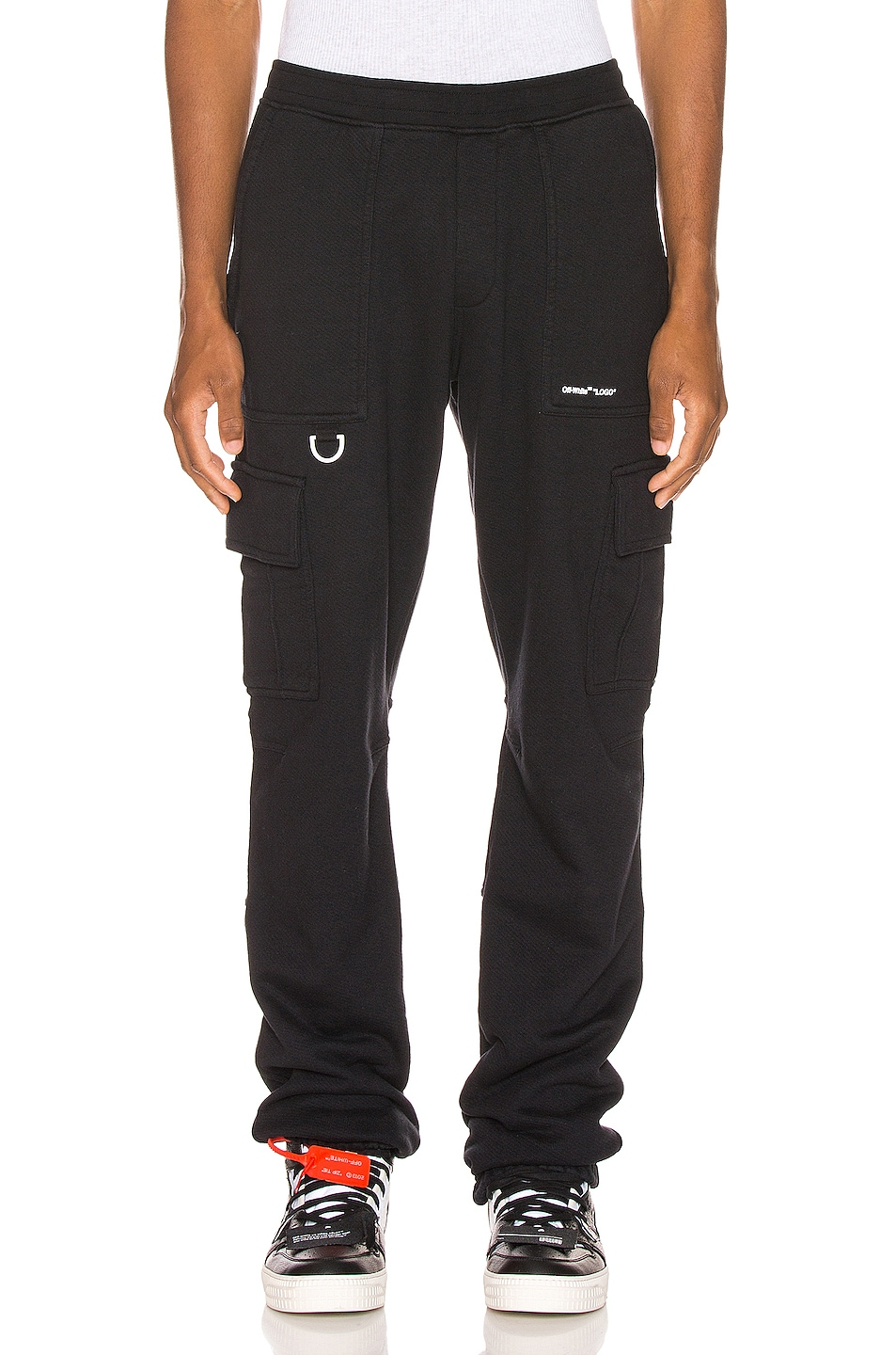 Image 1 of OFF-WHITE Cargo Sweatpants in Black