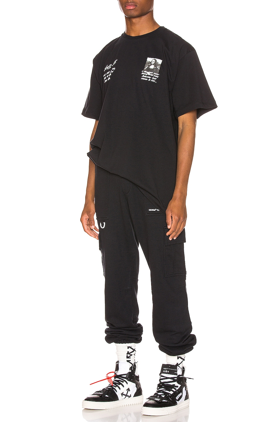 Image 4 of OFF-WHITE Cargo Sweatpants in Black