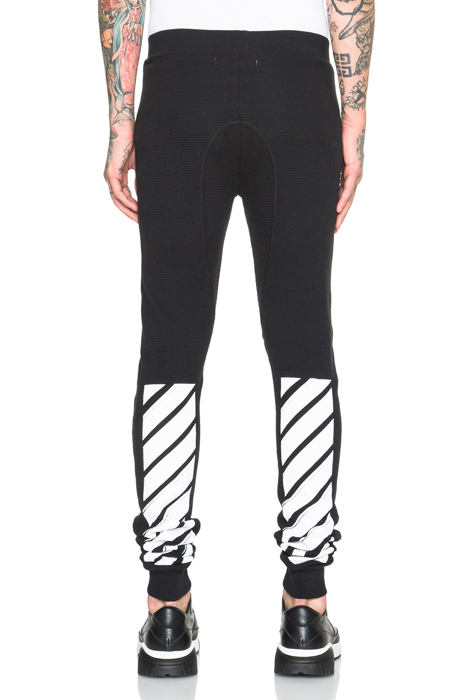 OFF-WHITE Waffle Leggings in Black | FWRD