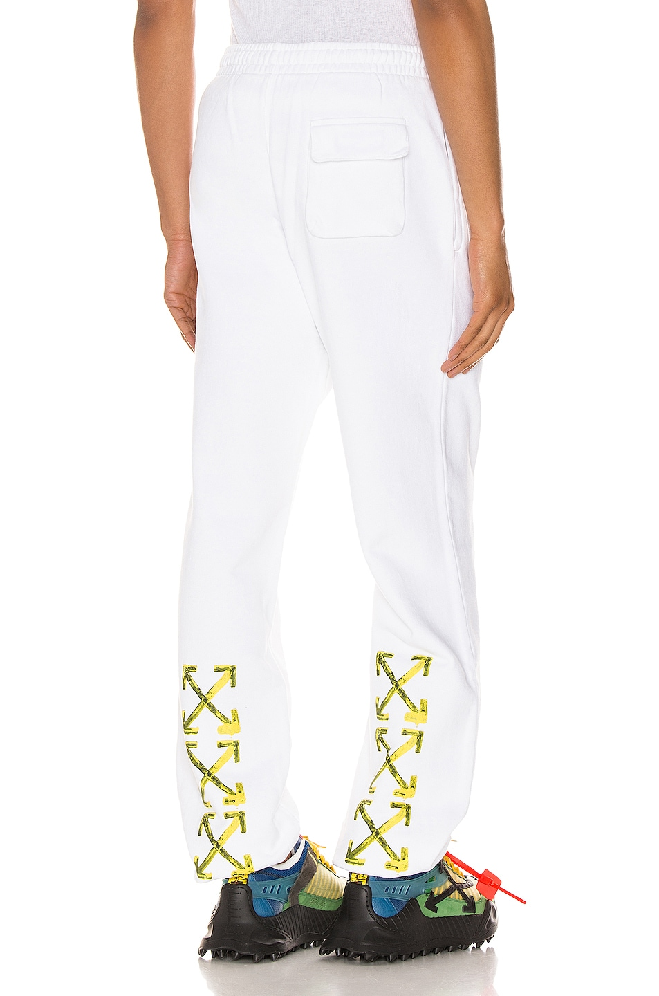Image 1 of OFF-WHITE Acrylic Arrows Sweatpants in White