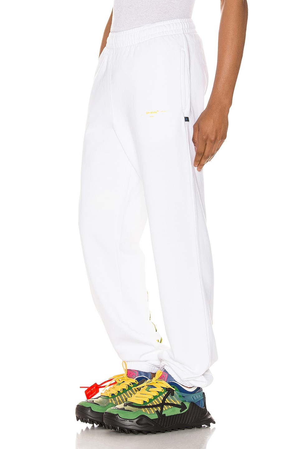 Image 4 of OFF-WHITE Acrylic Arrows Sweatpants in White