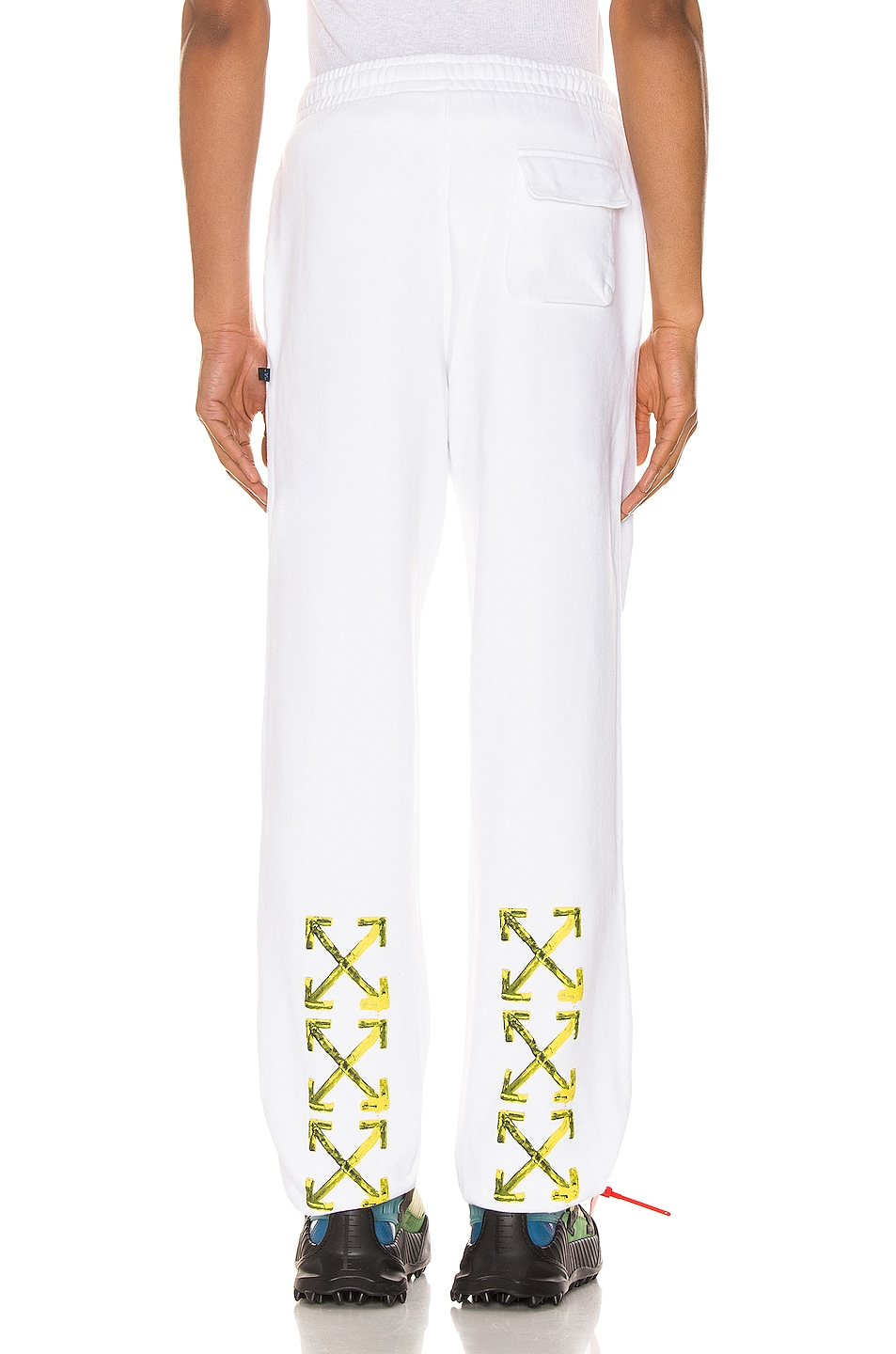 Image 5 of OFF-WHITE Acrylic Arrows Sweatpants in White