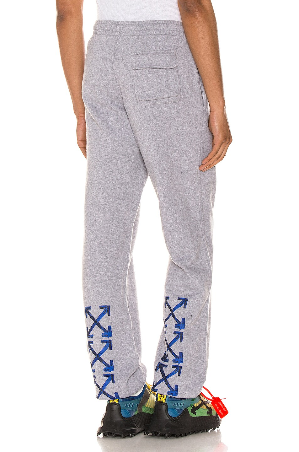 Image 1 of OFF-WHITE Acrylic Arrows Sweatpants in Grey