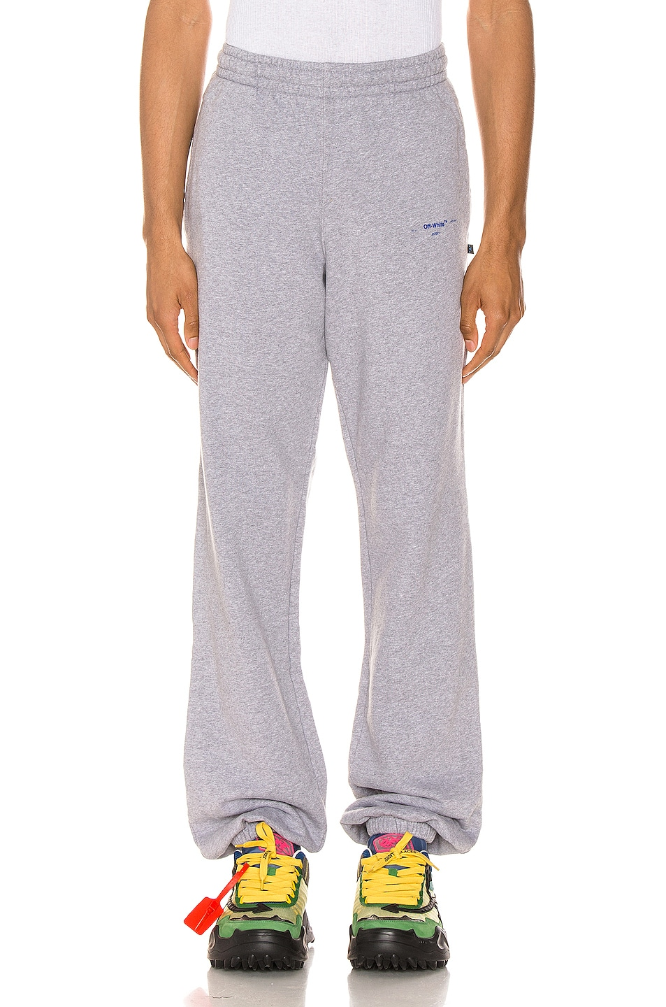Image 2 of OFF-WHITE Acrylic Arrows Sweatpants in Grey