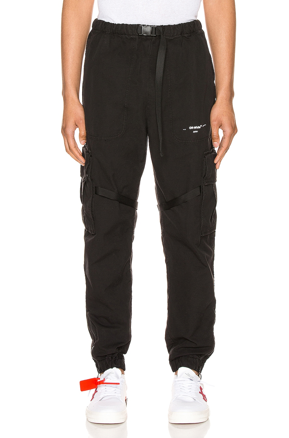 Image 1 of OFF-WHITE Parachute Cargo Pant in Black & White