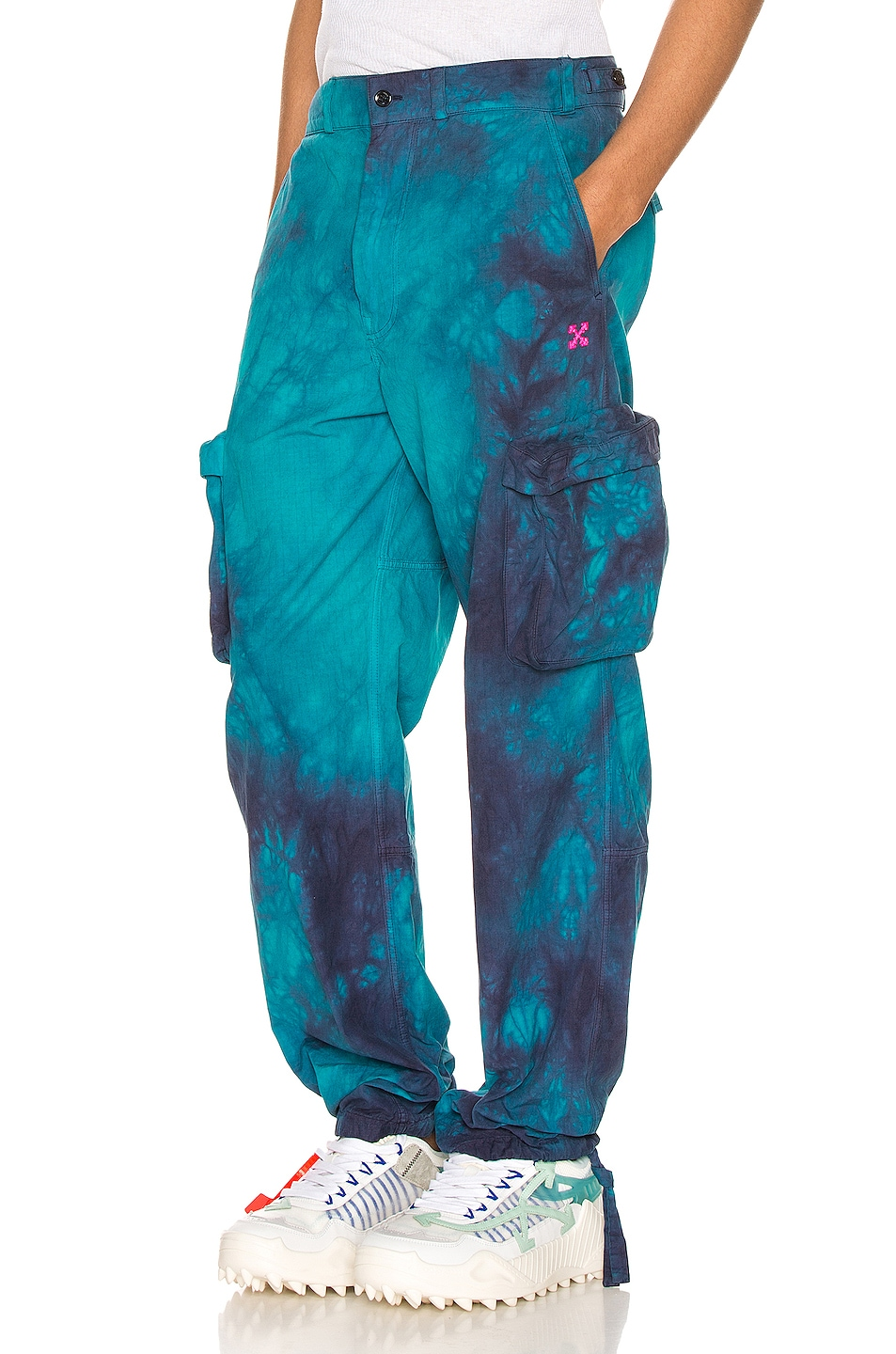 Image 1 of OFF-WHITE Ripstop Cargo Pant in Petrol Blue