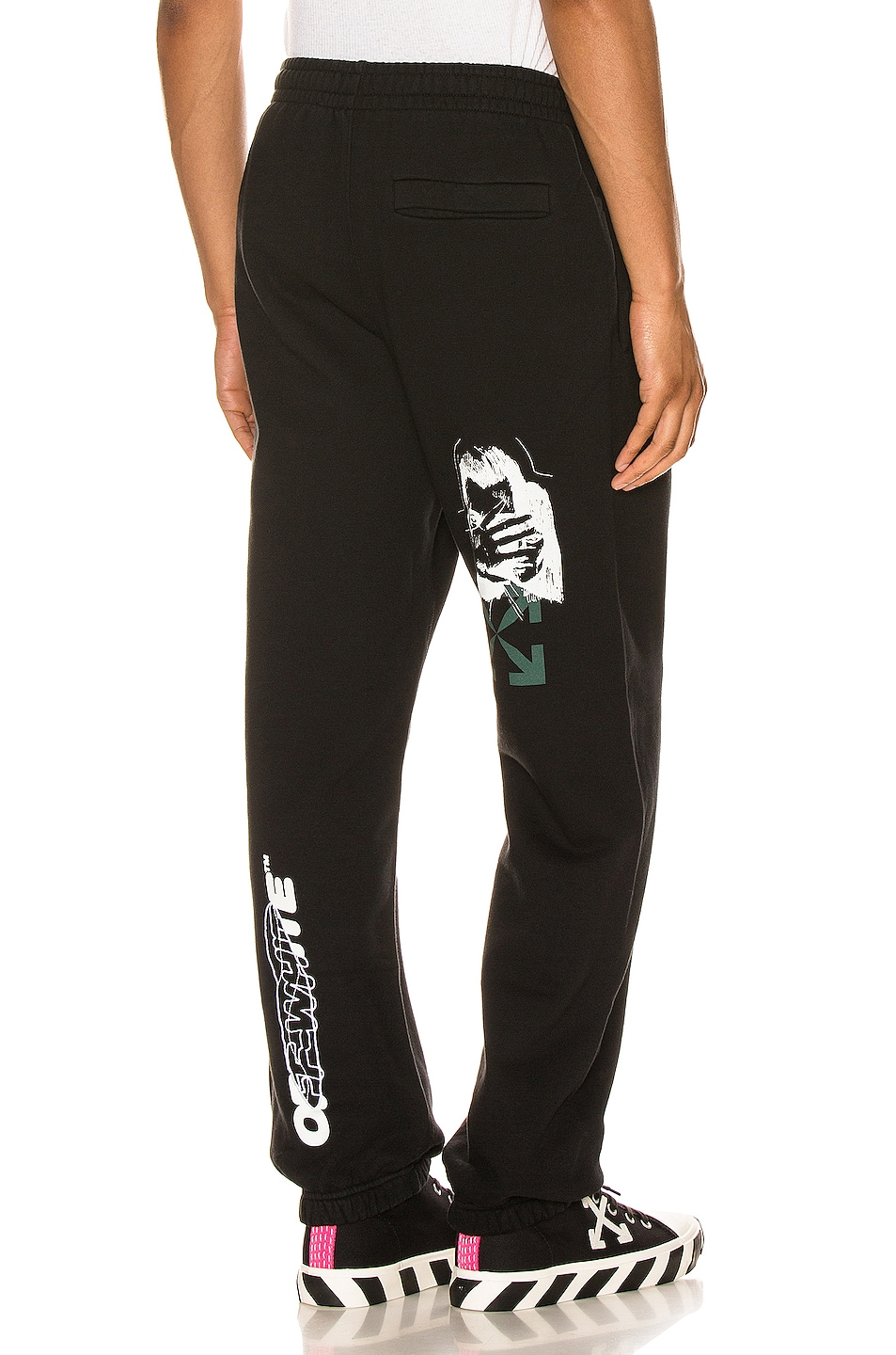 Image 1 of OFF-WHITE Hand Painters Slim Sweatpant in Black & White