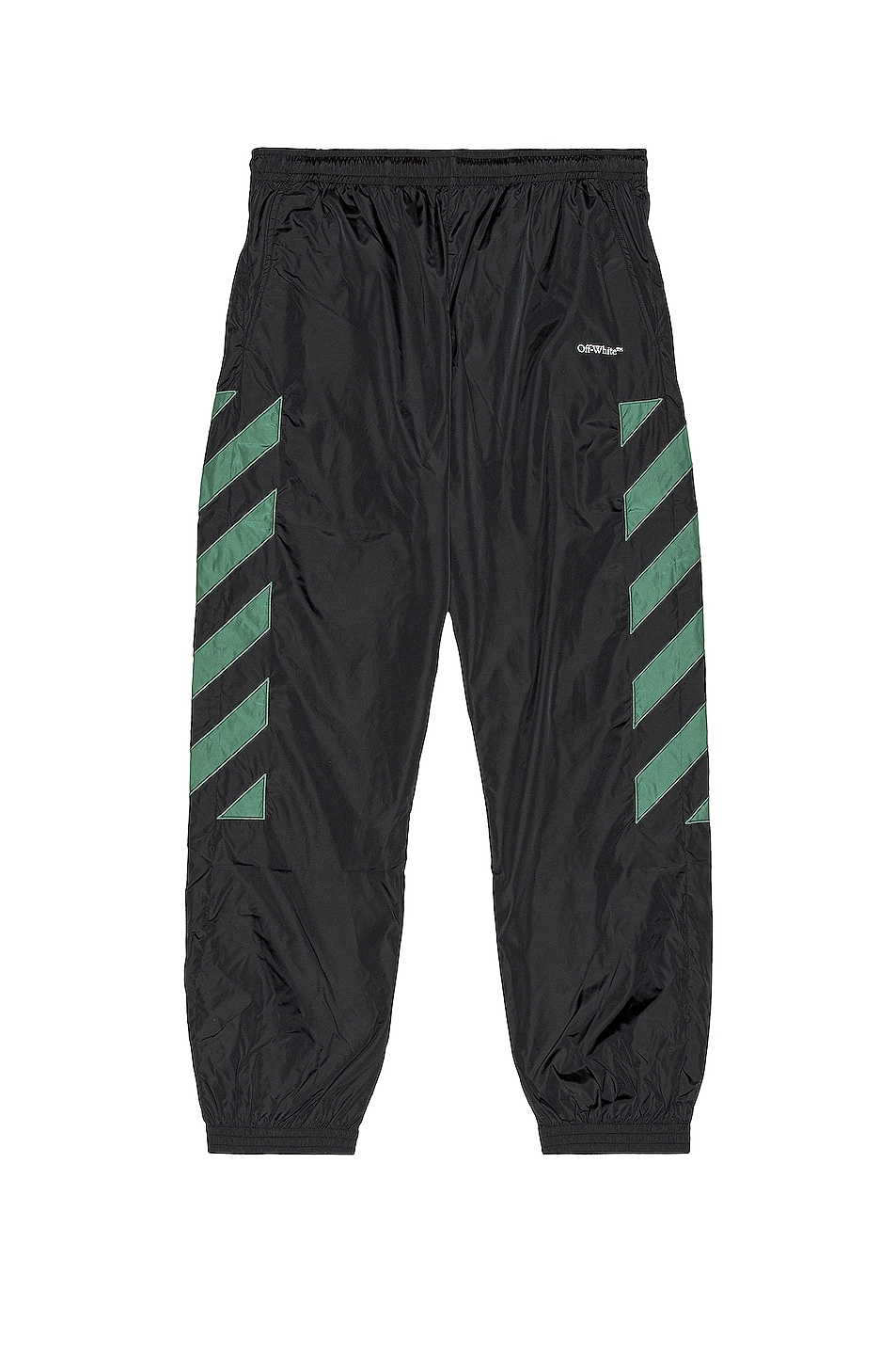 Image 1 of OFF-WHITE Diag Nylon Trackpant in Black & White