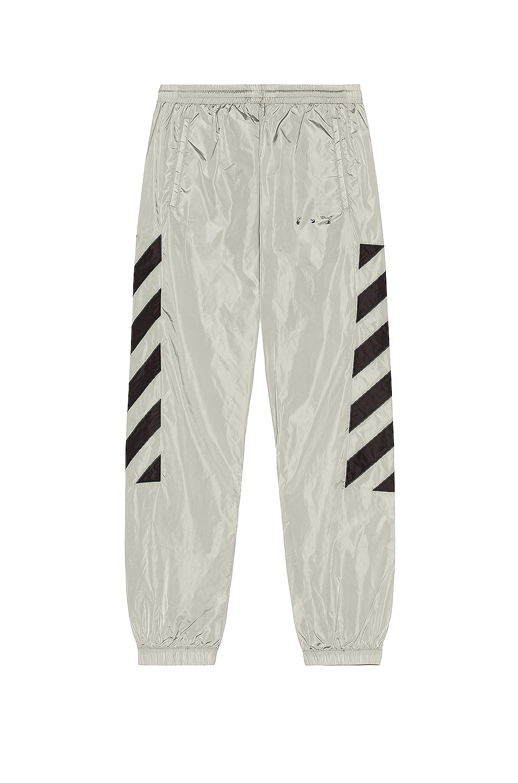 Image 1 of OFF-WHITE Nylon Track Pant in Limestone in Limestone & Black
