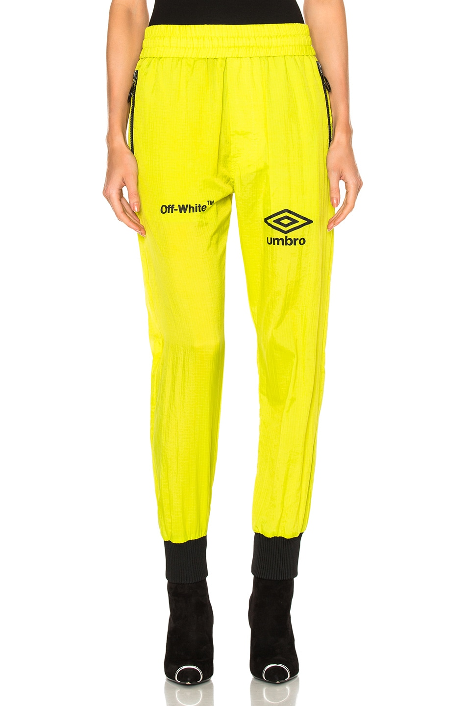 Image 1 of OFF-WHITE x Umbro Ripstop Pants in Brilliant Green & White