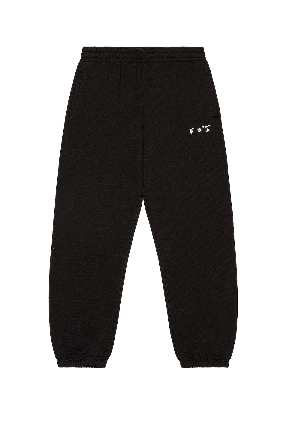 Image 1 of OFF-WHITE OW Logo Sweatpants in Black